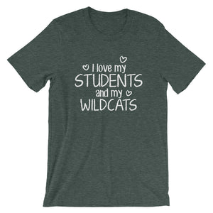 I Love My Students and My Wildcats Shirt