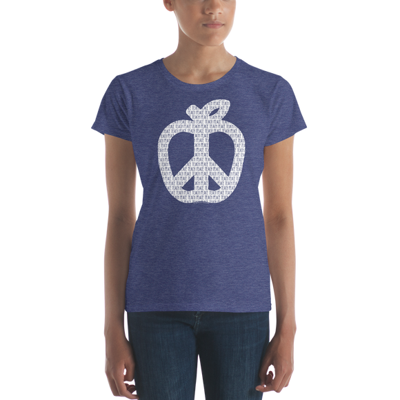Teach Peace T-shirt Women's Cut