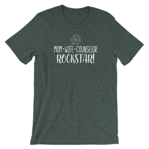 Mom, Wife, Counselor, Rockstar Shirt