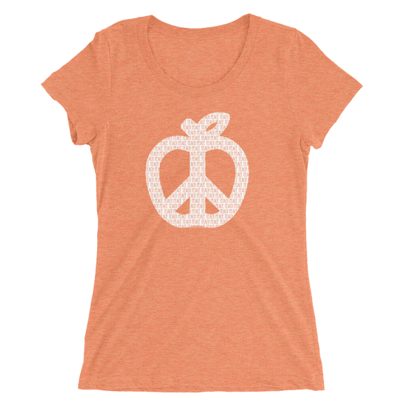 Teach Peace T-Shirt Distressed Design - LADIES FIT - Free shipping