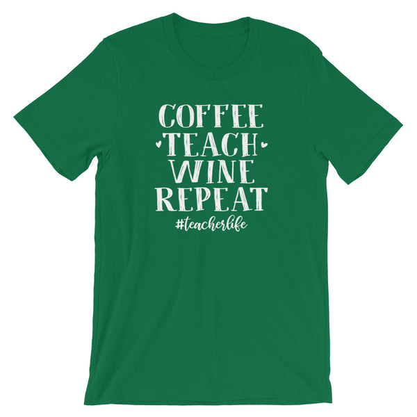 Coffee Teach Wine Repeat Shirt