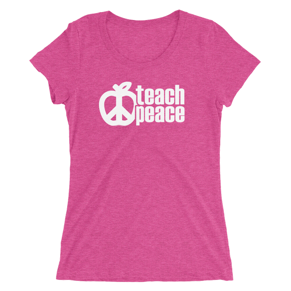 Teach Peace T-Shirt Bold Design - LADIES FIT - Free shipping