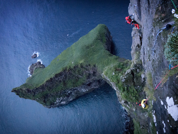climbing the walls in the Faroe Islands