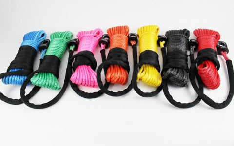 "3/8"" Synthetic Winch Rope - 18,500lbs Breaking Strength"
