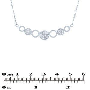 (100064) White Cubic Zirconia Necklace In Sterling Silver
