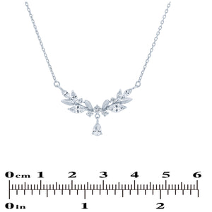 (100078) White Cubic Zirconia Necklace In Sterling Silver