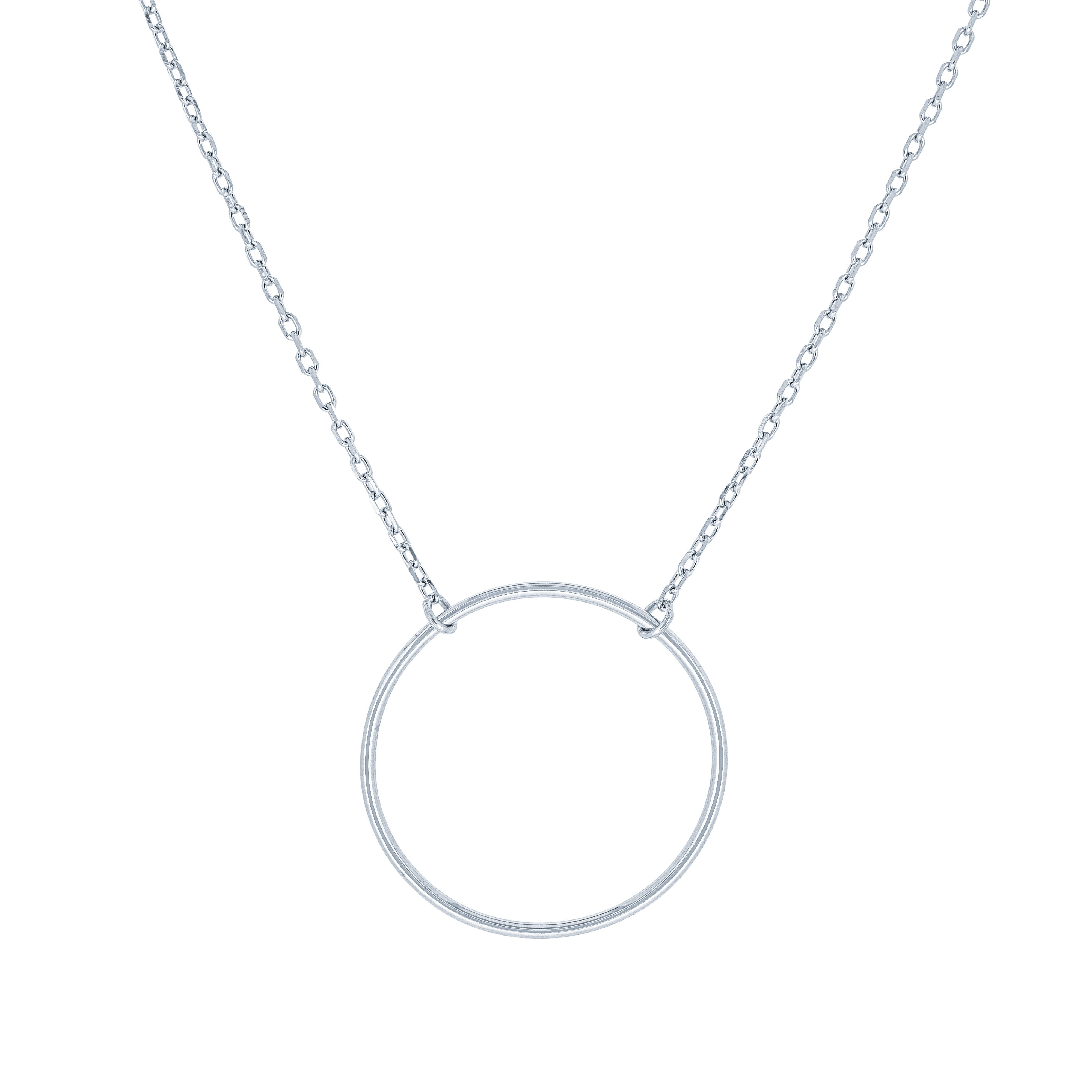 (100086) Circle Necklace In Sterling Silver