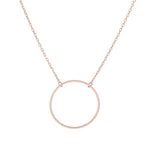 (100086A) Circle Necklace In Sterling Silver and Rose Gold Plate