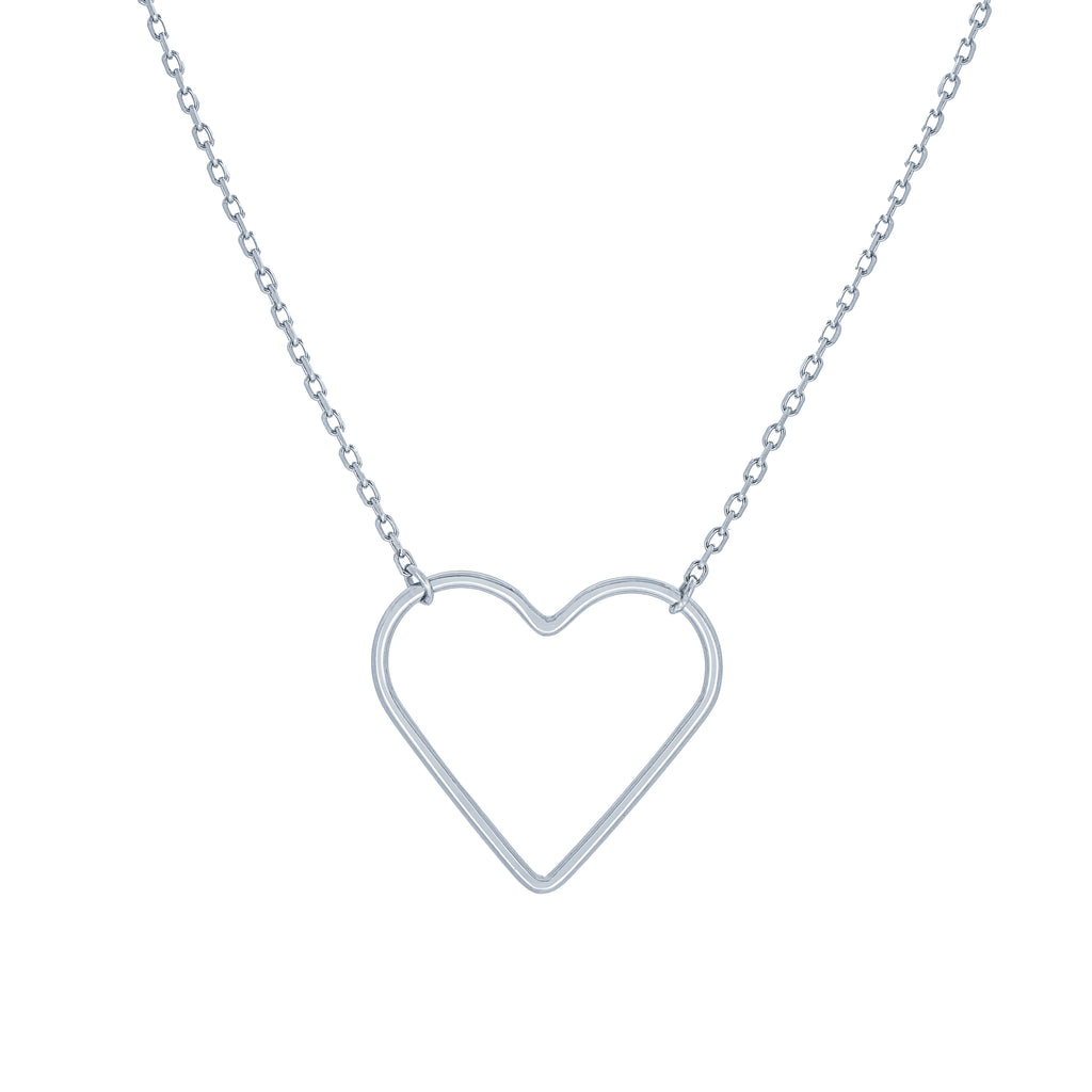 (100088) Heart Necklace In Sterling Silver