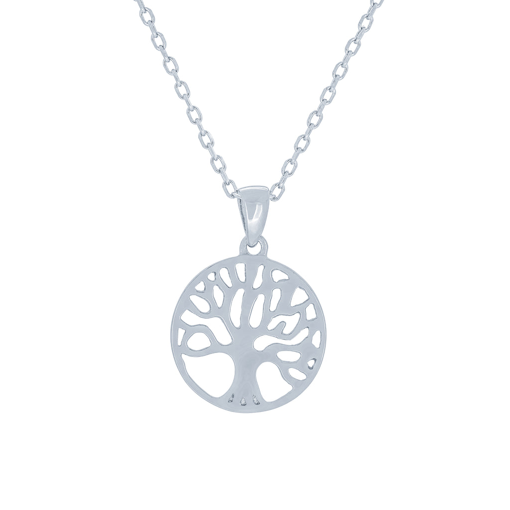 (100116) Tree Of Life Pendant Necklace In Sterling Silver