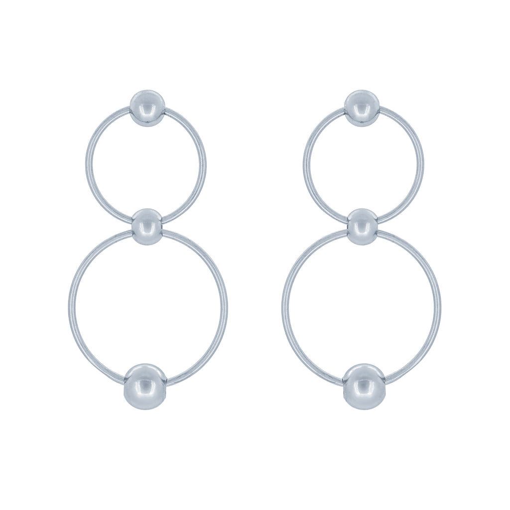 (100127) Circles Earrings In Sterling Silver