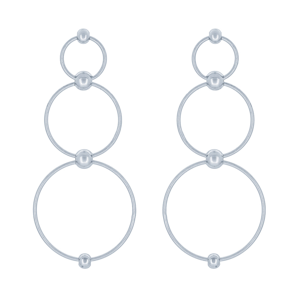 (100128) Circles Earrings In Sterling Silver