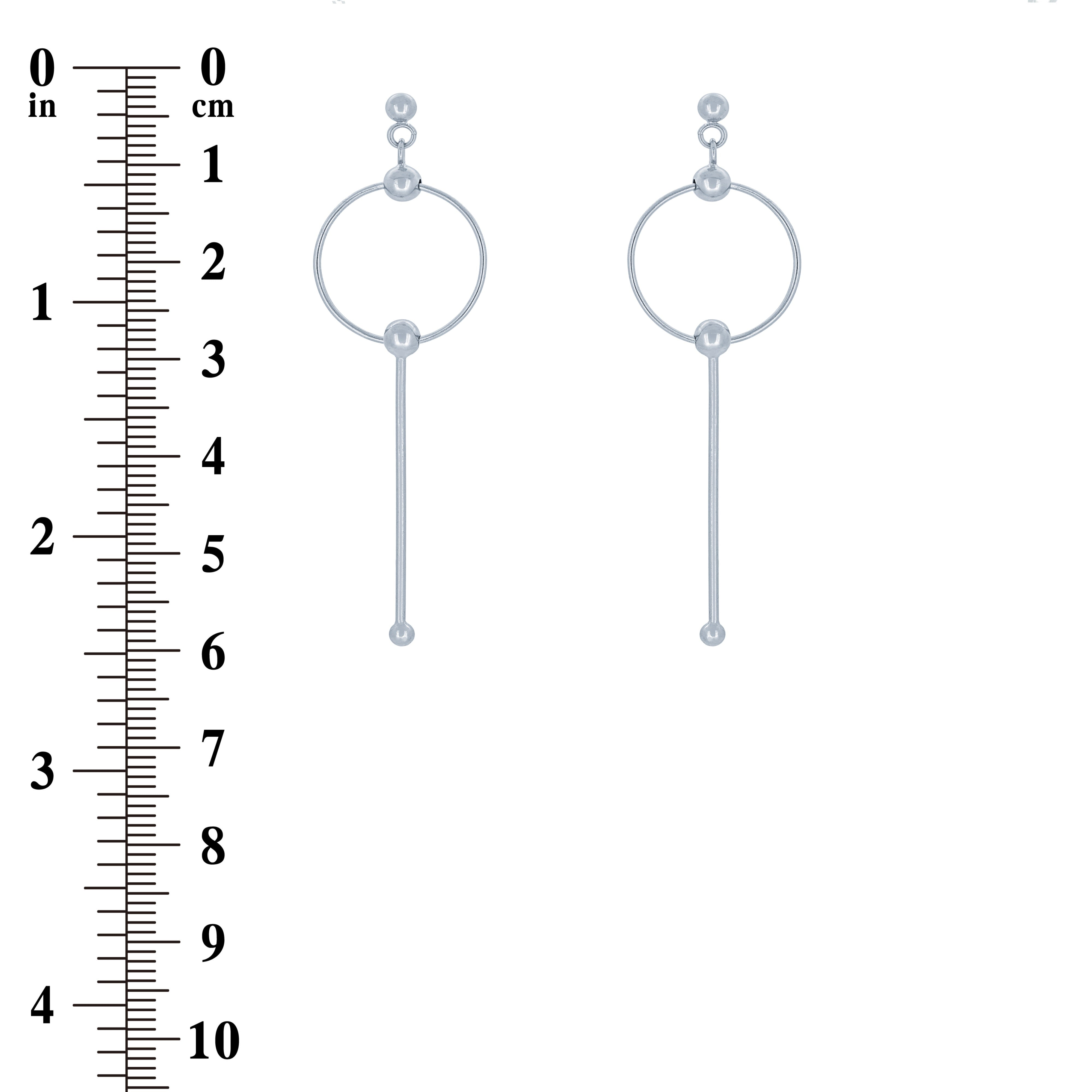 (100129) Circle Earrings In Sterling Silver