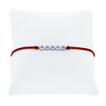 (100134) Red String Cubic Zirconia Bracelet In Sterling Silver