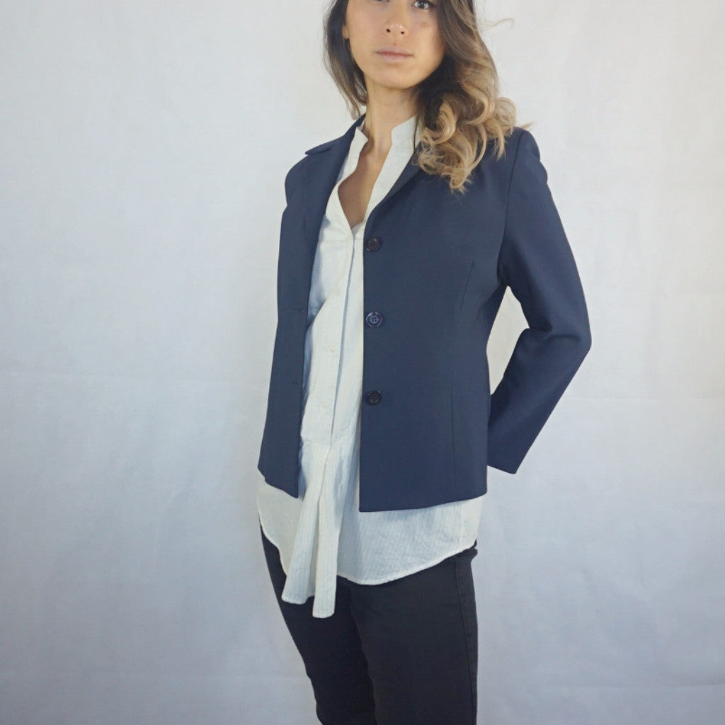 Chic Navy blue Blazer, womens, Buy second hand, RVIVAL