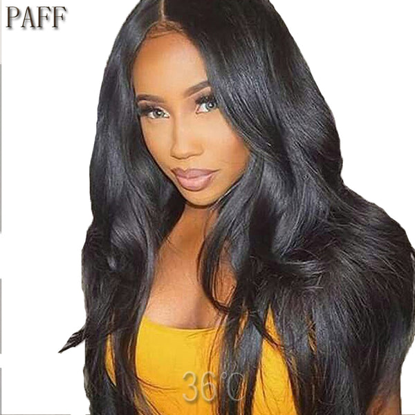 Straight Lace Front Human Hair Wigs 100% Peruvian Virgin Hair Wig
