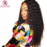 Curly 360 Lace Frontal Wig With Baby Hair Lace Front Human Hair Wigs Full Ends