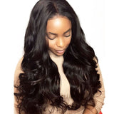 Full Lace Human Hair Wigs For Women Natural Black Body Wave