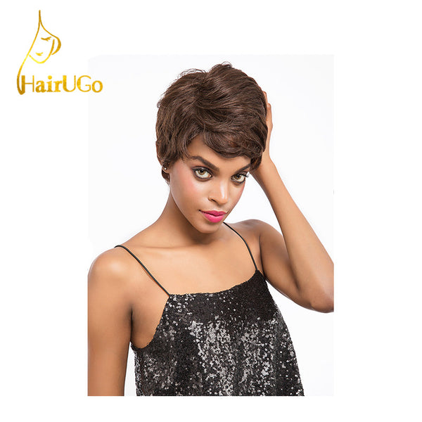 Hair Peruvian Straight Virgin Human Hair Straight #4 Color Short Human Hair