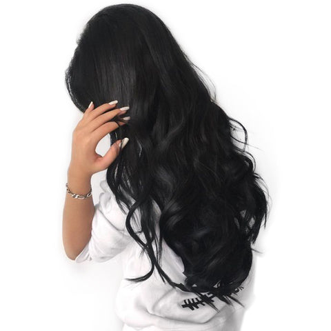 Lace Front Human Hair Wigs For Black Women Natural Body Wave Brazilian Frontal Wig