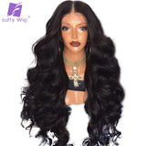 Plucked Glueless Peruvian Full Lace Human Hair Wigs