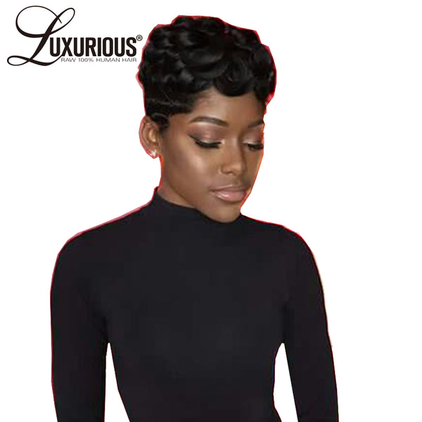 Curly Short Lace Wigs For Women  Malaysian Remy Human Hair
