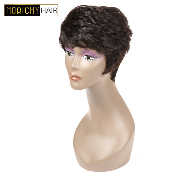 Short Human Hair Wigs Pixie Cut Wigs