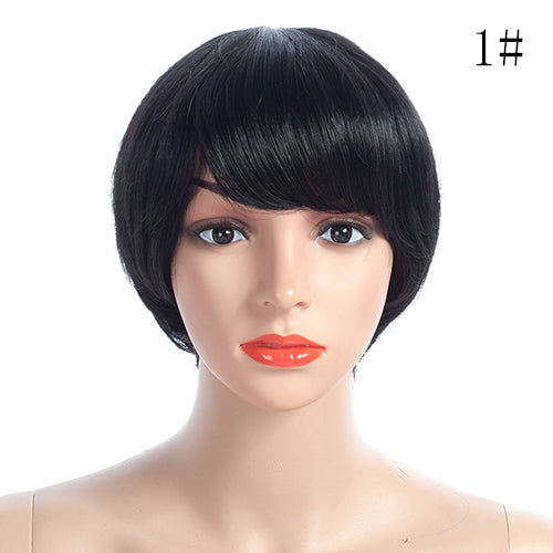 Straight Short Wigs Indian Remy Short Bob 100% Human Hair