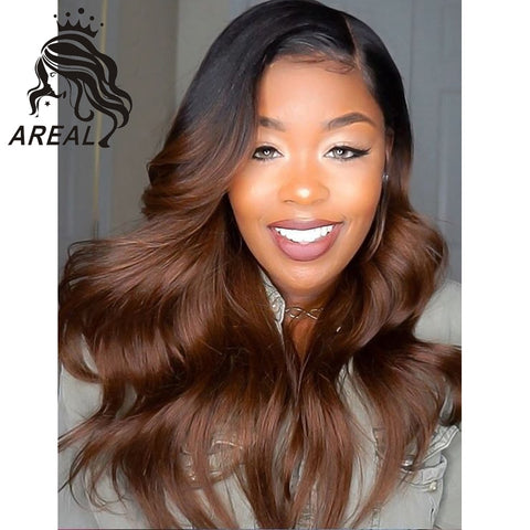 Lace Front Human Hair Wigs Root Wavy Virgin Hair Indian Wig Remy Baby Hair
