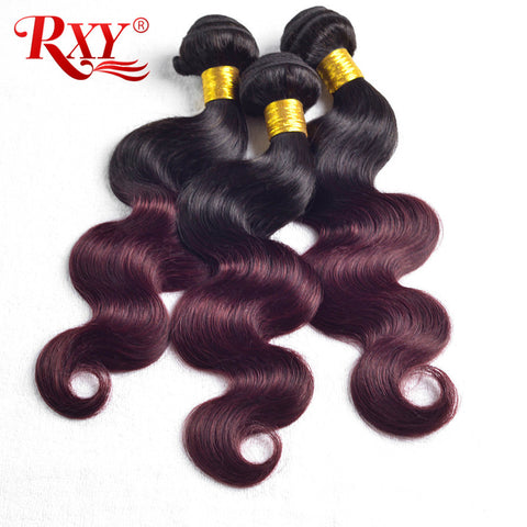 Brazilian Hair Weave Bundles Body Wave 1b Burgundy