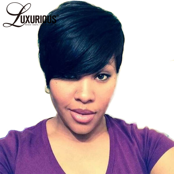 Short Lace Wigs Indian Remy Human Hair