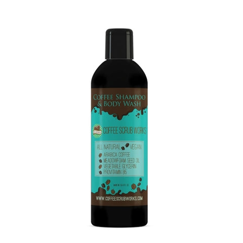 8 oz. Coffee 2 in 1 Shampoo and Body Wash
