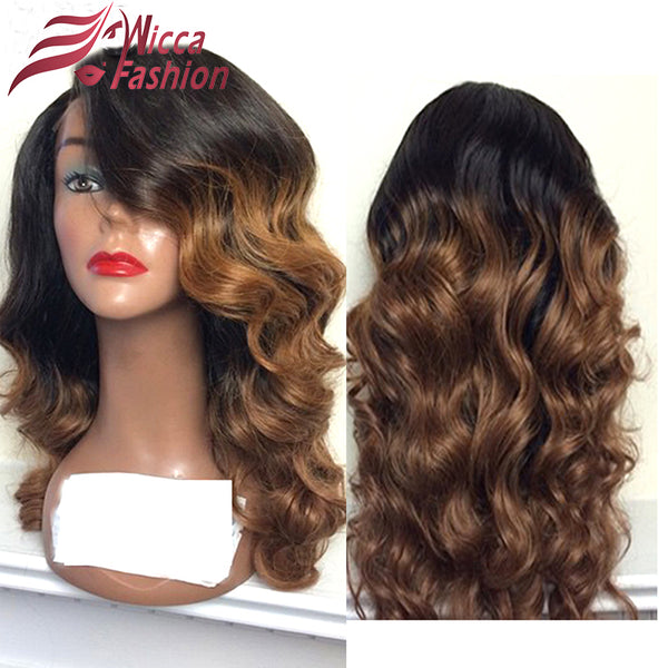 Dream beauty Ombre Color Lace Front Human Hair Wigs