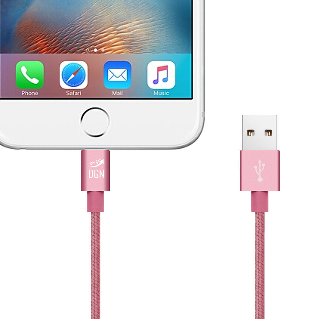 Dgn Apple Iphone Lightning Usb Data Sync Braided Charger Cable For Kabel Untuk Ipad Ipod