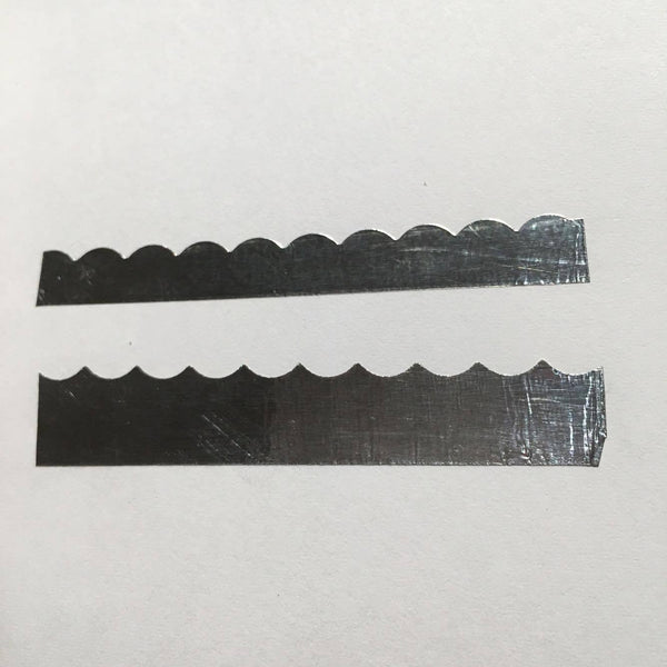 Scalloped Trim Chrome Powder Adhesive Stencil