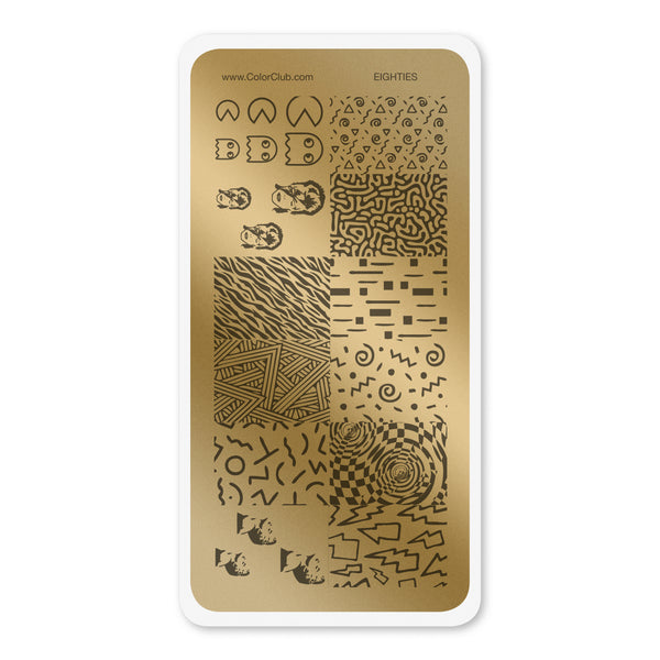 Color Club Stamping Plate - #36 Eighties