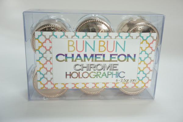 Bun Bun 6 Color Holographic Chameleon Chrome Combo