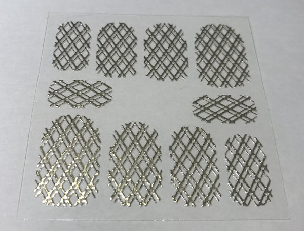 Metallic Gold Double Quilted Mesh Sticker