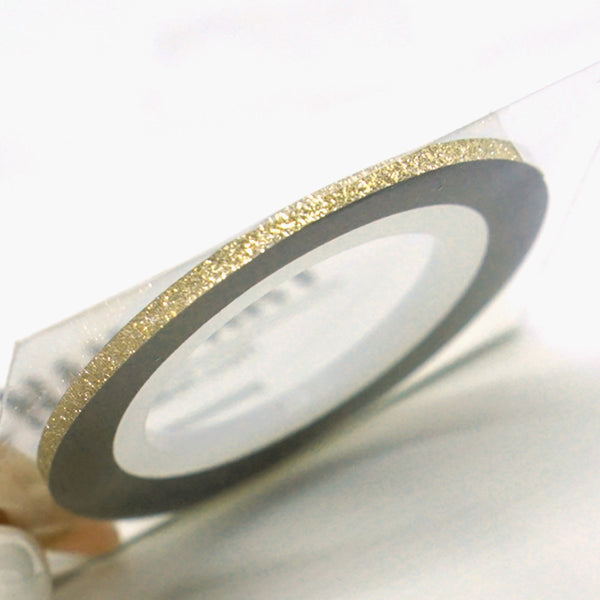 Striping Tape- Champagne Gold Glitter 3MM