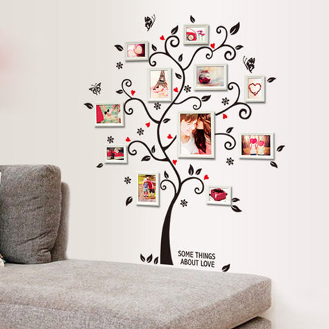 Family Tree Photo Frame Wall Decal – lovethosedecals
