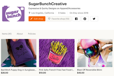 Sugar Bunch on Etsy!