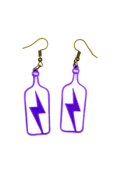 Lightning In A Bottle 3D Printed Color Changing Earrings