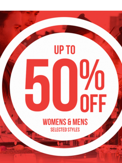 50% Discount on Selected Products