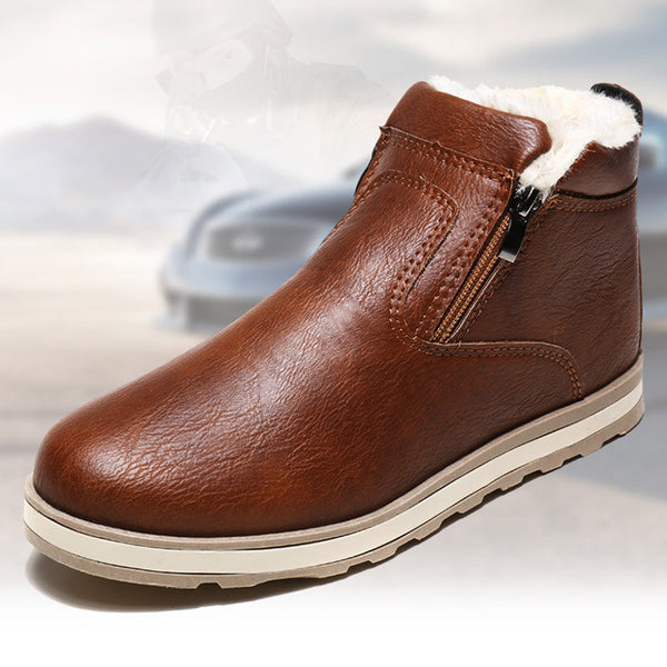 High Quality Men Winter Snow Proof Ankle High Zipper Boot