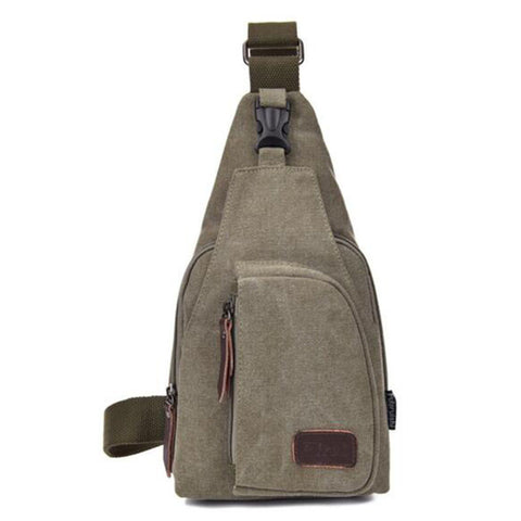 Hard Canvas Polyester Casual Military Men's Sling Chest Bags
