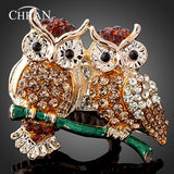 Luxurious 18K Gold Plated Charming Owl design Ring