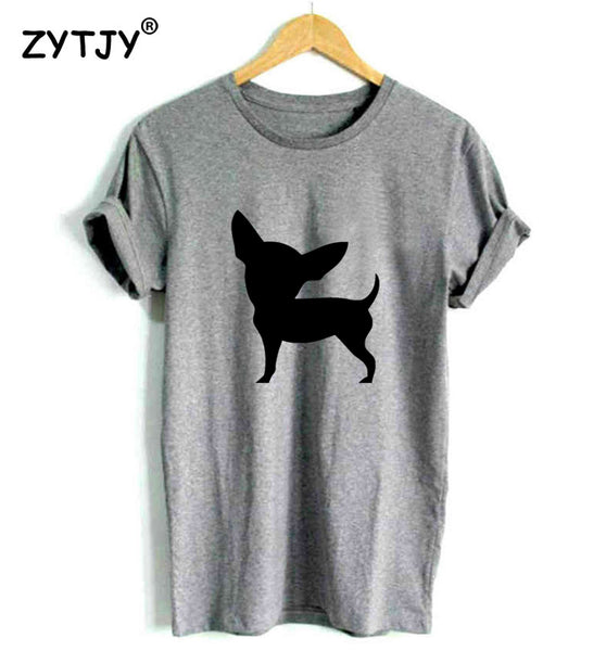 Chihuahua Printed Casual Cotton {Polo T-Shirts