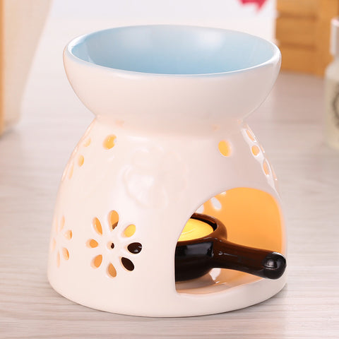 Aromatherapy Fragrance Ceramic Oil Burner Home Decor Candle
