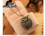 2016 Owl Design Women Vintage Gold Plated Pendant with Necklace