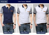 Cotten Polo T-Shirt Short Sleeve Smart Casual Streetwear for Men
